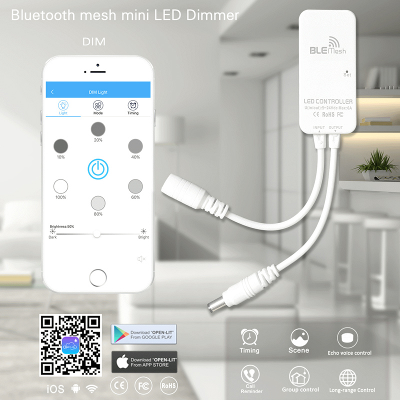 LED Mini WiFi Controller Works with Alexa for Flexible LED Strip