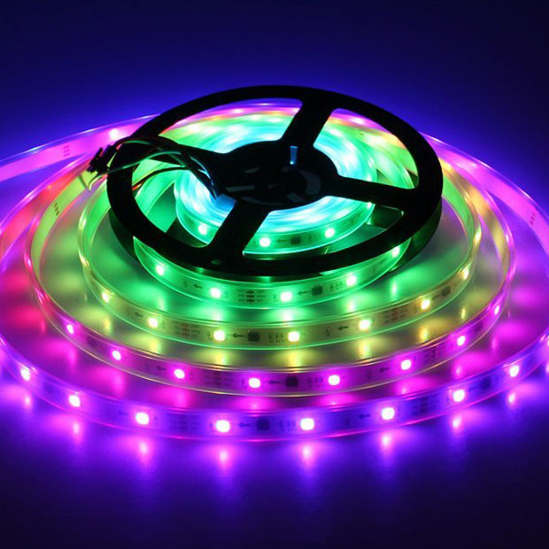 WS2811 UCS1903 DC 12V RGB Digital Flexible LED Strip Light