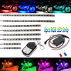 8pcs Motorcycle LED Light Flexible Strip Kit Multi-Color Neon Accent Glow Lights with RF Remote Controller
