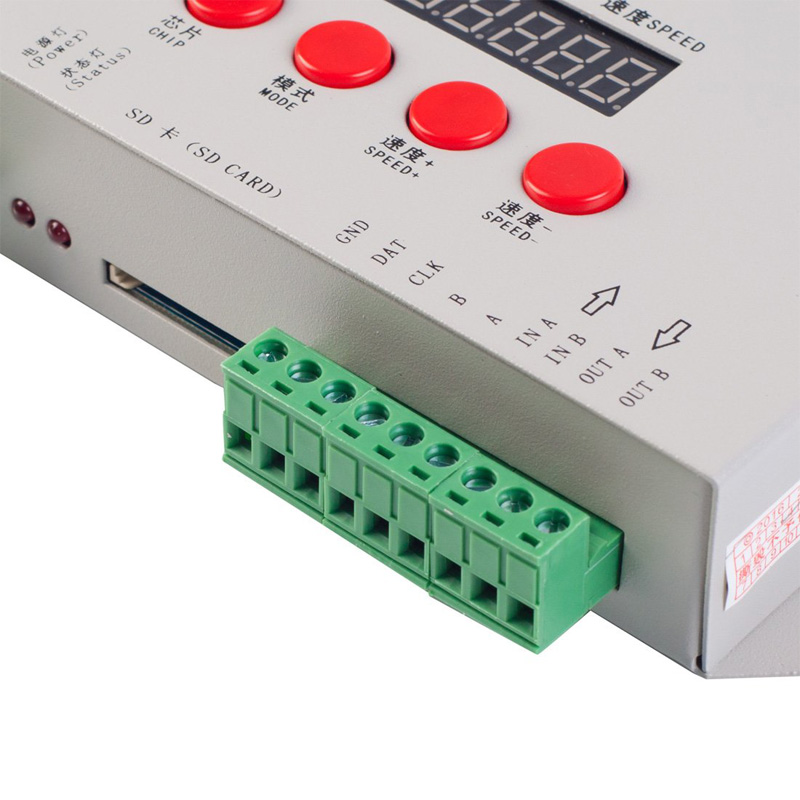 K-1000C WS2812B SK6812 WS2811 WS2813 Led Strip 2048 Pixels Controller DC5-24V Addressable Programmable Controller with SD Card