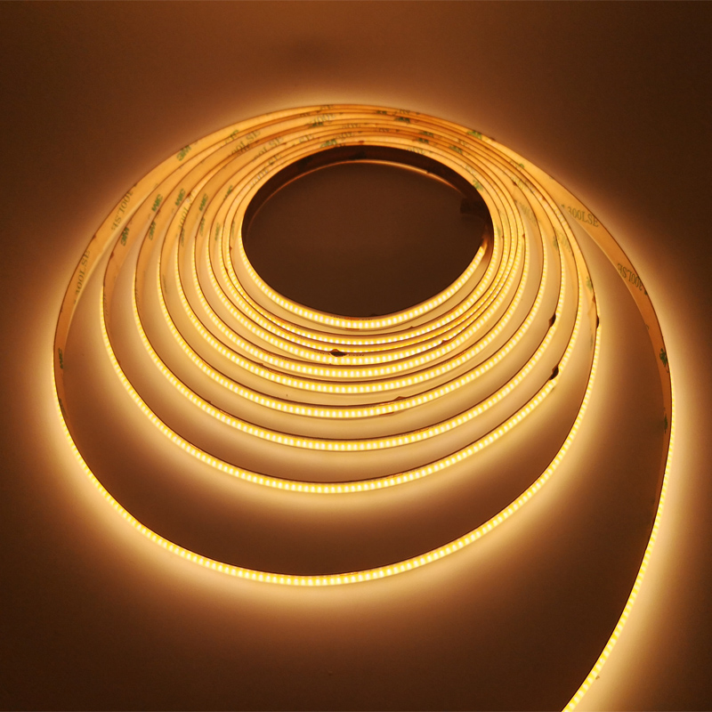 24V Ra 90 Flexible Warm White COB LED Strip Lights with High Lumen