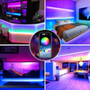 LED Strips Lights, RGB Light Strip 10M(2x5M) 32.8ft 300 LEDs 5050 SMD Strips Lighting Kit with APP, Colour Changing Rope Lights with RF Remote, Music Sync for Party Home Christmas Decoration